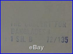 Vintage 1972 Concert For Bangladesh Original Movie House Full Sheet Poster