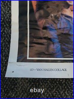 Vintage 70's-80's Van Halen Collage Poster David Lee Roth Concert Tour Bumblebee