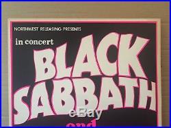 Vintage Black Sabbath Edgar Winter White Trash 1971 Concert Poster Portland OR