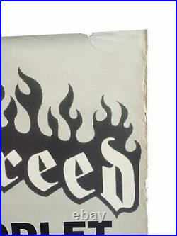 Vintage Hatebreed European Tour Poster Hardcore Punk Rock Metal Concert Promo