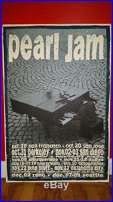 Vintage Mint PEARL JAM 1993 Vs. Tour Original Concert Poster