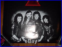 Vintage Motorhead Lemmy Signed Autographed Concert Tour Poster Metal 1986 Rare