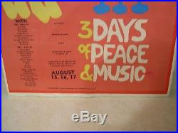 Vintage Original 1969 Woodstock Rock Concert Poster (guaranteed)