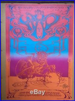 Vintage Signed Rick Griffin Psychedlic Who Concert Poster