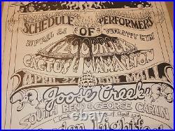 Vtg 1972 Psych Concert Poster! George Carlin, Dion, Gordon Lightfoot, Cactus +++