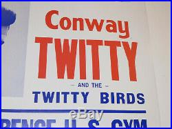 Vtg 1973 Loretta Lynn & Conway Twitty Concert Poster!'coal Miners' Original