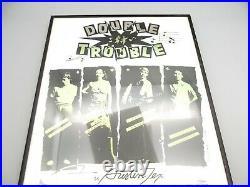 Vtg 1979 Double Trouble Austin Texas Original Concert Poster Framed Stevie Ray