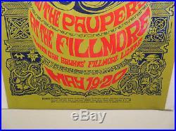 Vtg Martha & The Vandellas Original Fillmore Concert Poster Bill Graham