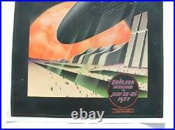 Vtg Orig 1977 Bill Graham Led Zeppelin Concert Poster Oakland Coliseum July 23