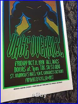 Vtg Original 1991 Nirvana Show Poster Concert Detroit MI Grunge Rock