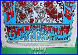 WEEN Concert Poster Emek SIGNED The Grateful Dead FD-26 Roses Stanley Mouse MINT