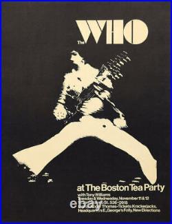 WHO PETE TOWNSHEND 1969 BOSTON TEA PARTY concert poster ULTRA RARE NM (no repro)