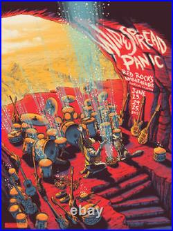 WIDESPREAD PANIC 2017 Red Rocks 18x24 Concert Poster by James Flames #'d /750