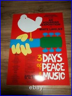 WOODSTOCK POSTER Music & Art Fair Concert Skolnk Original 2 Posters