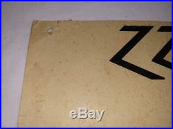 WOW 1972 ZZ TOP early Concert Poster KENTUCKY VERY NICE VINTAGE ORIGINAL