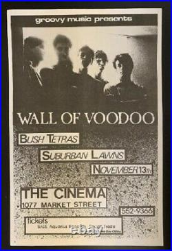 Wall Of Voodoo Concert Poster 1981 San Francisco
