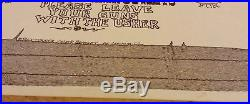 Waylon Jennings Armadillo World Headquarters original concert poster June 9 1974