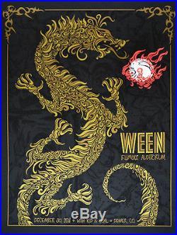 Ween Denver Fillmore Concert Poster 12/30/11 Ultra Mega Rare 1st Edition Mint
