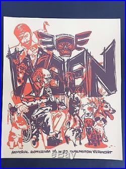 Ween Rare Early Tyler Stout Original Vermont Silkscreen Concert Tour Gig Poster