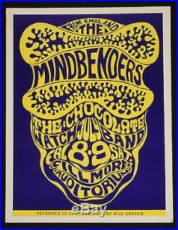 Wes Wilson 1966 Mindbenders Bill Graham concert Fillmore San Francisco