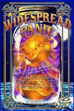 Widespread Panic Alabama 2008 Concert Poster 3d Lenticular Original Biffle