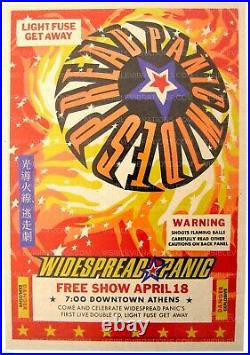 Widespread Panic Concert Poster 1998 Athens