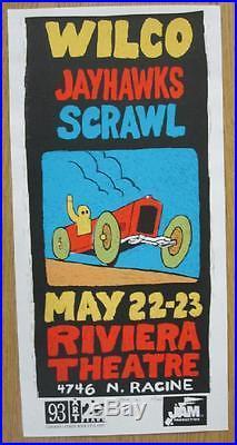 Wilco Jayhawks Chicago 1998 Original Concert Poster Silkscreen