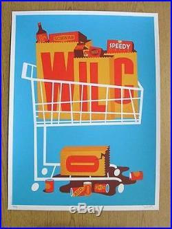 Wilco Portland 2015 Original Concert Poster Dan Stiles Silkscreen Les Schwab