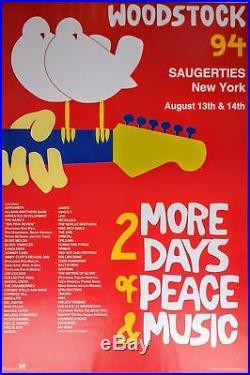 Woodstock'94 Concert Poster (RARE, NM, ORIGINAL)