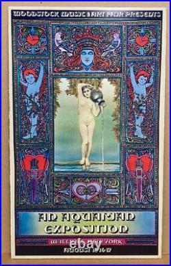 Woodstock Wallkill Original Concert Poster 1969