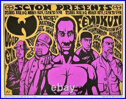 Wu-Tang Clan Concert Poster Justin Hampton A/P Austin 2006