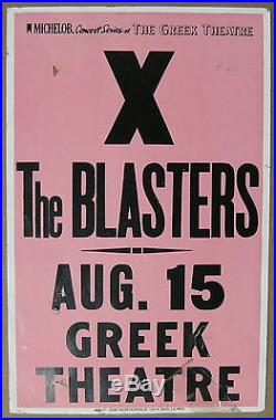 X Greek Theatre LOS ANGELES 1981 CONCERT POSTER The Blasters PUNK