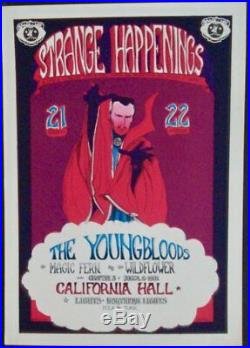 YOUNGBLOODS DR. STRANGE HAPPENINGS vintage concert handbill GREG IRONS 1967 MINT